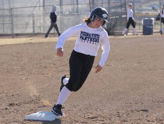 Jade Skaggs, who had 12 stolen bases in 2019, is Piedra Vista's top returning baserunner.