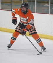 By the end of the first period on Feb. 27, Mustang Nick McInchak was one of two Northville High players with two goals.