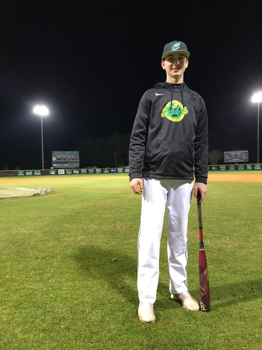 Catholic sophomore Carter McCulley has surrendered just one walk this season, with nine strikeouts in nine innings of work.