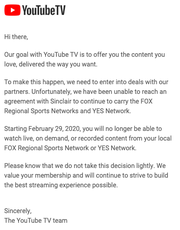 YouTube TV dropping Fox regional sports networks could have a big effect on Arizona sports fans.