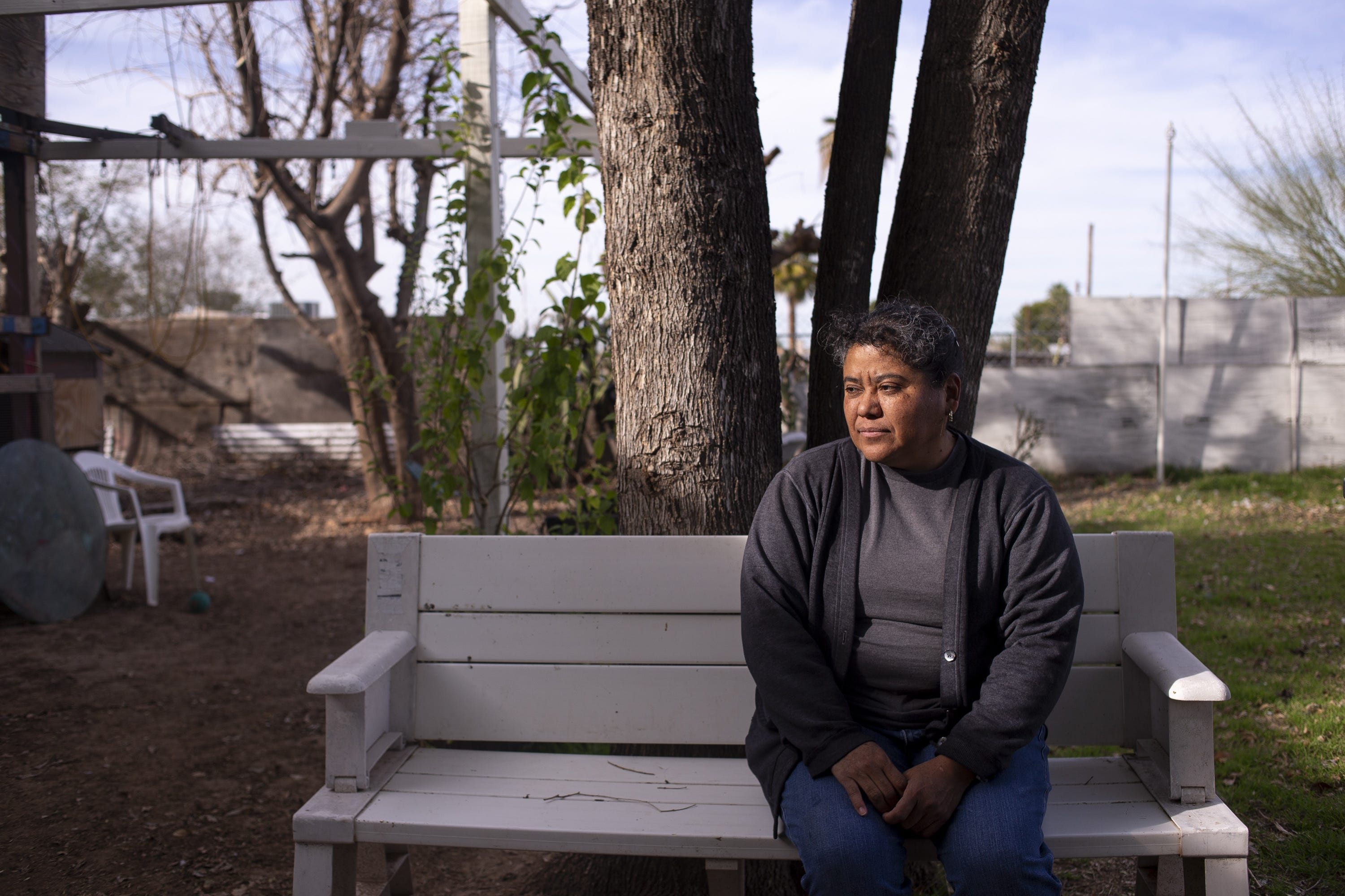 Blanca Abarca poses for a portrait in her backyard on Feb. 27, 2020, in Phoenix.