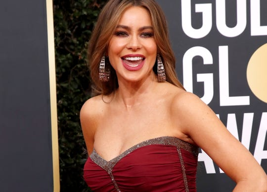 Sofia Vergara arrives for the 77th annual Golden Globe Awards ceremony at the Beverly Hilton Hotel, in Beverly Hills, California, USA.
