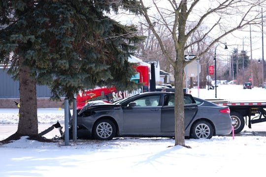 Five people inside a car involved in a Friday crash in Port Huron Township were not injured.