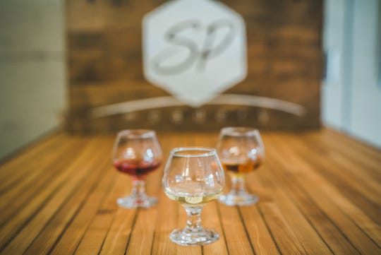 Glasses of mead from Slate Point Meadery in Pleasant Valley