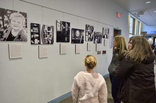 The Franklin County Female Firsts exhibit is on display on the second floor of Coyle Free Library through March.
