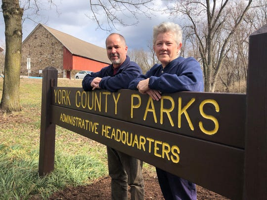 Michael Fobes, left, will take over as director of York County Parks Feb. 29. Also pictured is Tammy Klunk, who is retiring from her role as director after 37 years with the department.