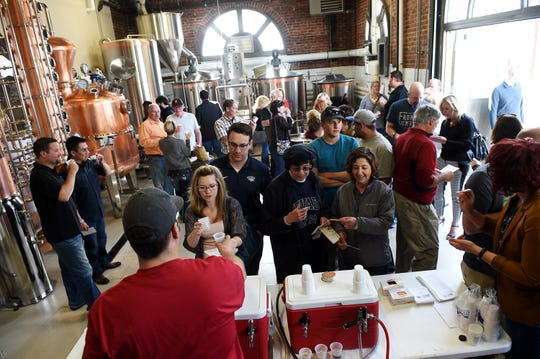 From 2015: Local beer fans take part in the RGJ Beer Bracket Tasting Finals at the Depot Craft Brewery in Reno on April 9, 2015.