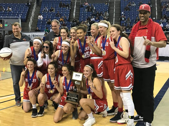 Truckee won the girls 3A state basketball championship in February.