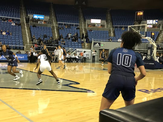 Centennial beat Spring Valley on Thursday in a girls 4A state semifinal an will play for its sixth straight state title on Friday night at Lawlor Events Center.