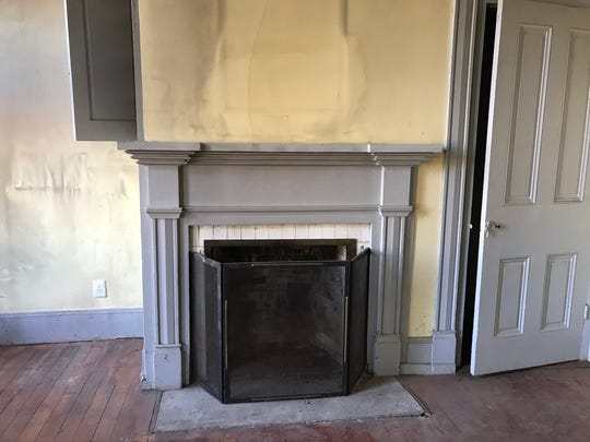 One of three fireplaces downstairs in the 163-year-old Sam Brown House just north of Gervais off Highway 99E on Thursday, Feb. 27, 2020.