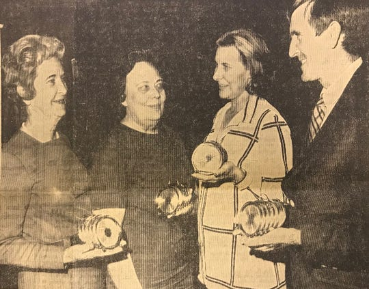 First-place winners from the 1970 bridge tournament in San Angelo's team-of-four play were Mrs. Tom McKenzie and Mrs. R.L.  Walker, both of Fort Stockton, and Mr. and Mrs. J.R. Wilcockson of San Angelo.