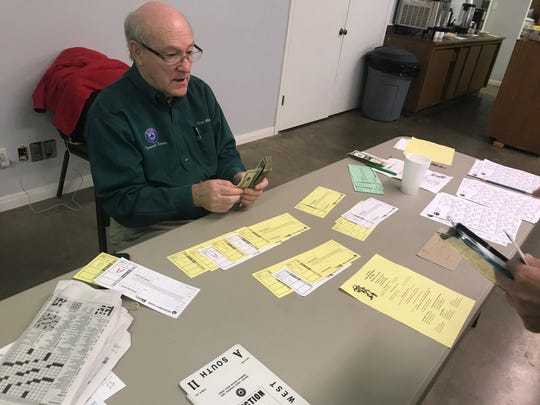 """Tournament Director Tom Marsh of San Antonio said he travels all year from city to city, and said West Texas is """"without a doubt"""" the most hospitable place to play bridge."""