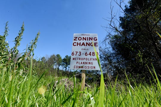 Centurion Holdings Group LLC's requested rezoning in the 2400 block of Audrey Lane.