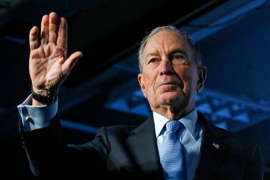 FILE - In this Feb. 20, 2020, file photo, Democratic presidential candidate and former New York City Mayor Mike Bloomberg waves after speaking at a campaign event, in Salt Lake City. Democratic presidential candidates like to boast about their ability to lure away disaffected Republican voters. If there's a place to test their skills, it's Utah. The deep red state is a bastion of conservative resistance to President Donald Trump. (AP Photo/Rick Bowmer, File)