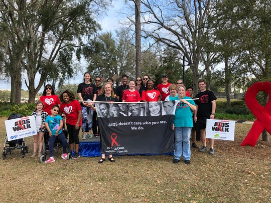 A group gathers for last year's AIDS Walk. This year's 30th Annual Tallahassee AIDS Walk will be at 6:30 p.m. Thursday at Railroad Square.