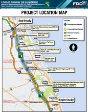 Florida Department of Transportation plans to expand Florida's Turnpike to eight lanes from the current four lanes.