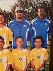Rogelio Juarez (right) and Rogelio Juarez Jr. coached the Channel Islands High boys soccer team together for one season.