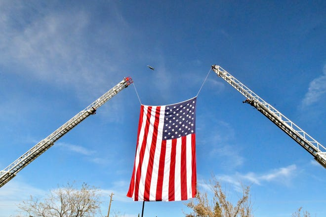 More than a thousand gathered Friday, February 28, 2020 to pay their respects for Porterville Fire Captain Ramon Figueroa and Firefighter Patrick Jones at the Porterville Church of the Nazarene. Both men were killed in the fire at the library on Tuesday of last week.