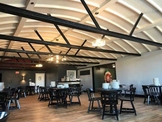 Glass Nickel Pizza in Rib Mountain is slated to open Monday, March 2, 2020. It is housed in the old Michael's Supper Club building. The event space, pictured here, used to be the main dining area at Michael's.
