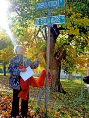 Stella Marrs and a street named in her honor in Spring Valley.