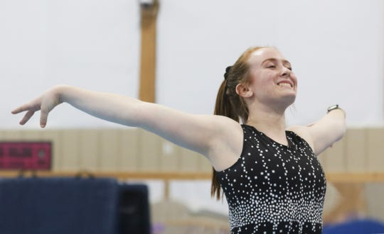 Tri-Valley High School senior Cameron McCullough will travel to the state gymnastics meet as an alternate. She just missed qualifying for the floor routine.