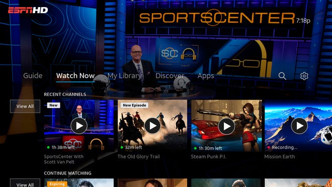 AT&T TV combine live TV with streaming apps, a cloud DVR and voice-activated remote.