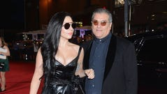 Lady Gaga and Joe Germanotta attend the 2013 MTV Video Music Awards on August 25, 2013 in New York City.