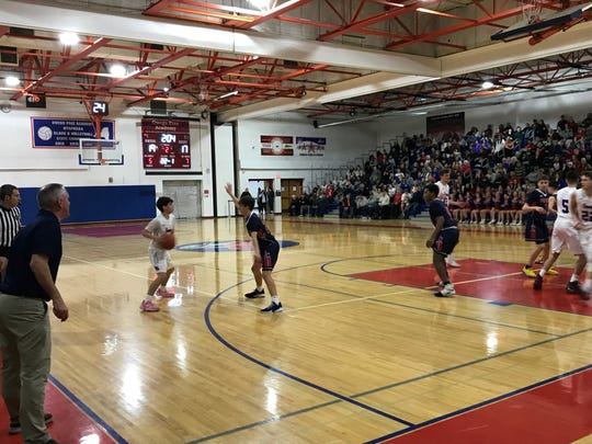 Action from Chenango Forks at Owego for Section 4 Class B quarterfinal, Feb. 28, 2020.