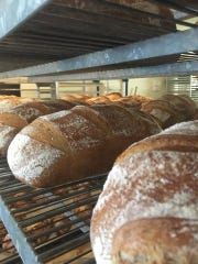 Fresh bread at Saboteur Bakery. Matt Tinder, co-owner and head baker at Saboteur, has been named a semi-finalist for the James Beard Awards.