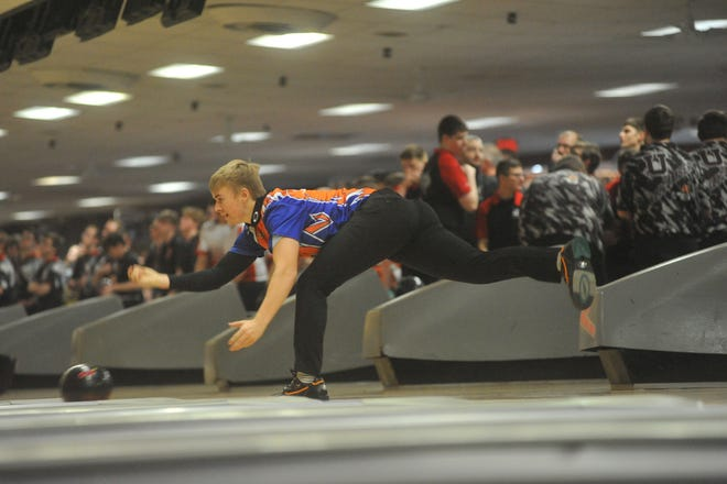 Galion's Jason Guthridge was the top individual bowler over the weekend at the MOAC championship rolling a 615 — 19 pins better than anyone else.