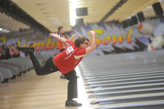 Bucyrus' Tod Spurlock competes at the state bowling tournament.