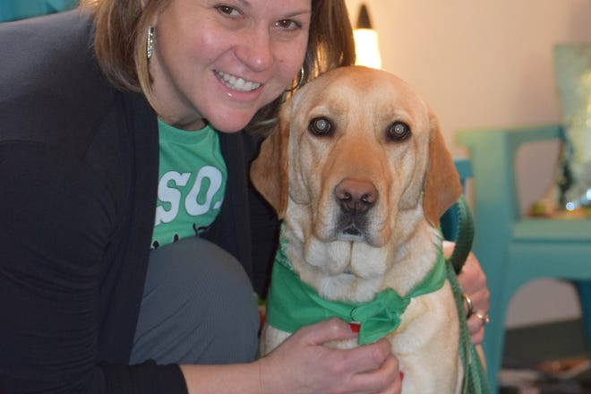 Lucy is Mason City Schools' new therapy dog for students in grades 3 through 6.