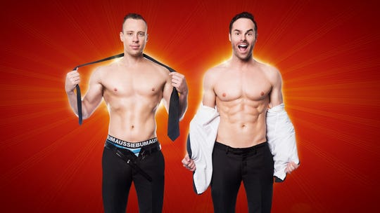 Christopher Wayne and Mike Tyler began performing as the Naked Magicians in Australia in 2014.