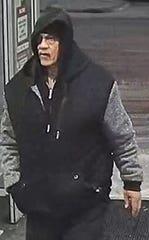 Surveillance image of the suspect.