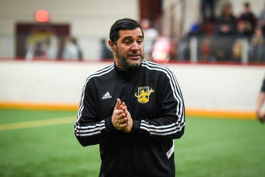 DCFC women's coach Sam Piraine