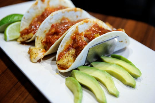 Fish tacos from the Burgh Haus in Newburgh.
