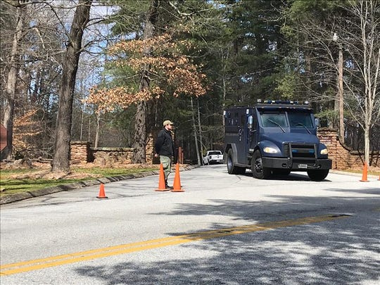The Greenville County Sheriff's Office conducts a manhunt for 49-year-old Ryan Dusha Kedar inside Paris Mountain State Park, which has been shut down.