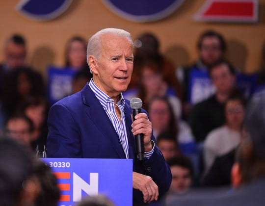 Former Vice President Joe Biden campaigns in Spartanburg, SC, Friday evening, February 28, 2020. Biden, a 2020 Democratic presidential nominee, held a rally at Wofford College in Spartanburg.