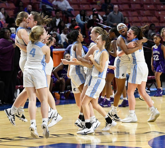 Christ Church defeats Saluda 61-43 in the Upper State Class AA girls basketball championship Saturday, Feb. 29, 2020 at The Well.
