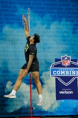 How much Tristan Wirfs' tremendous Combine (which included a record 36.5-inch vertical jump for offensive linemen) helped the Mount Vernon product will be known Thursday night.