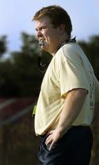 Edinburgh head football coach Ryan Vermilion in October 2005.