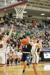 Shelby did a good job of taking Clear Fork's Brennan South out of the game, holding him to 10 points Friday night