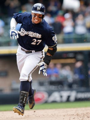 Carlos Gomez was a two-time all-star (2013 and 2014) and  Gold Glove winner while with the Brewers.
