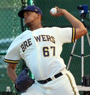 Brewers' left-handed Angel Perdomo was impressive in spring training.