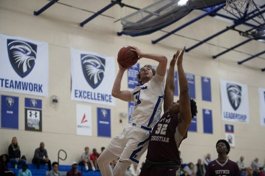 Photos from Community School of Naples against Seffner Christian at the Moe Kent Family Field House in North Naples on Friday, Feb. 28, 2020. CSN beat Seffner Christian 76-67.