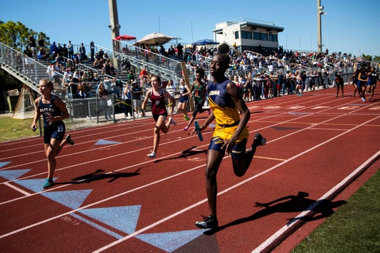 The Eagle Invitational track and field meet was held at Naples High School on Saturday, February 29, 2020.