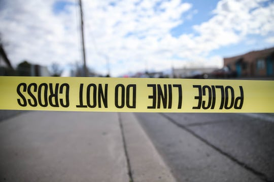 Police conduct an investigation near the Seventh-day Adventist Church at 240 3 Crosses Ave. on Saturday, Feb. 29, 2020.