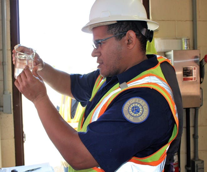 Las Cruces Utilities' first intern to complete the program, Errol Lockett, will now become a full-time employee in the wastewater line of business and plans to earn his certifications now that his degree in water technology from Doña Ana Community College is complete.