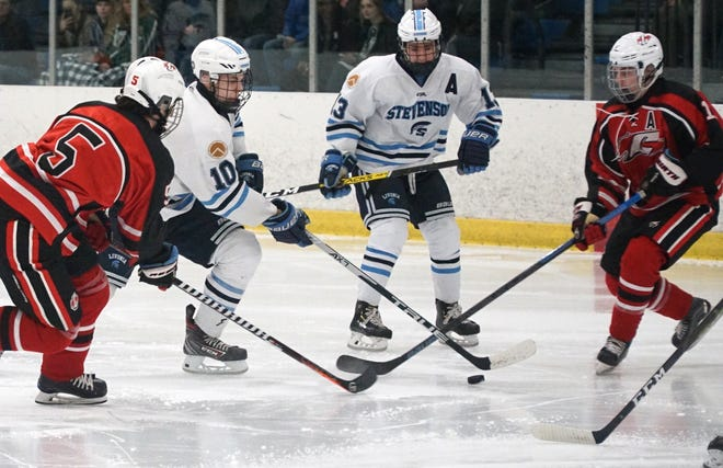 Stevenson's Seth Lause could not help the Spartans past Trenton like he helped them against Canton in this file photo.