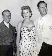 From left, Hoagy Carmichael, Lucille Ball and Desi Arnaz were Thunderbird Country Club neighbors.